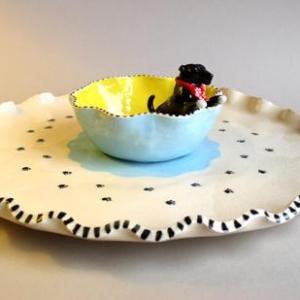 Terrier in Dish